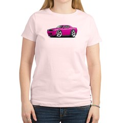 Challenger SRT8 Fuschia Car Women's Light T-Shirt