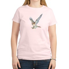 striking Red-tail Hawk Women's Light T-Shirt