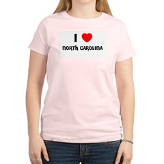 I LOVE NORTH CAROLINA Women's Light T-Shirt