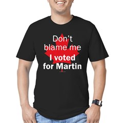 I voted for Martin Black Men's Fitted T-Shirt (dark)