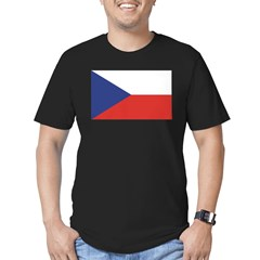 Czech Republic / Czech Flag Men's Fitted T-Shirt (dark)