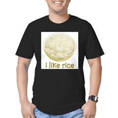Rice Men's Fitted T-Shirt (dark)