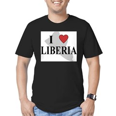 I Love Liberia Men's Fitted T-Shirt (dark)