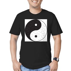 Ying Yang Yoga Men's Fitted T-Shirt (dark)