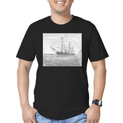 HMS Warrior Men's Fitted T-Shirt (dark)