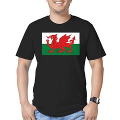 Wales Fla Men's Fitted T-Shirt (dark)