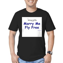 Marry Me, Fly Free Men's Fitted T-Shirt (dark)