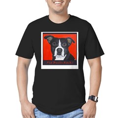 Pit Bulls Rock Men's Fitted T-Shirt (dark)