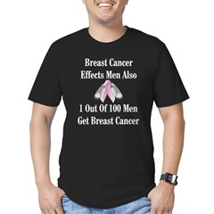 Male Breast Cancer Awareness Black Men's Fitted T-Shirt (dark)