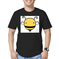 Cute Bee Men's Fitted T-Shirt (dark)