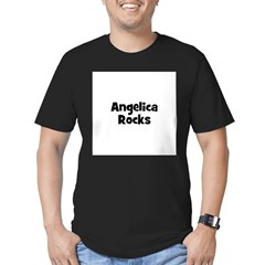 Angelica Rocks Men's Fitted T-Shirt (dark)