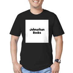Johnathan Rocks Men's Fitted T-Shirt (dark)