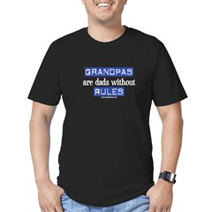 Grandpas are...rules! Men's Fitted T-Shirt (dark)