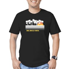 Del Boca Vista Black Men's Fitted T-Shirt (dark)