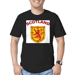 Scotland Ash Grey Men's Fitted T-Shirt (dark)