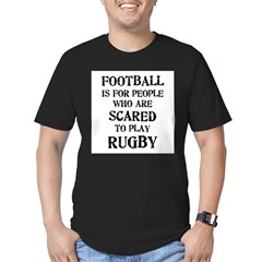Rugby vs. Football 2 Men's Fitted T-Shirt (dark)