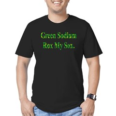 Green Sodium Men's Fitted T-Shirt (dark)