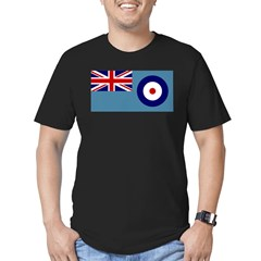 UK's RAF Flag Shoppe Ash Grey Men's Fitted T-Shirt (dark)