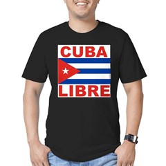 Cuba Libre Free Cuba Ash Grey Men's Fitted T-Shirt (dark)