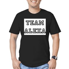 TEAM ALEXA Ash Grey Men's Fitted T-Shirt (dark)