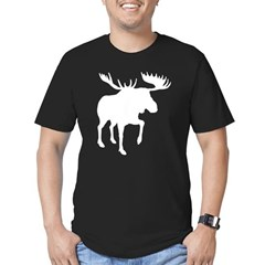 Moose Black Men's Fitted T-Shirt (dark)