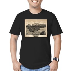 Antique map of Bar Harbor, Ma Men's Fitted T-Shirt (dark)