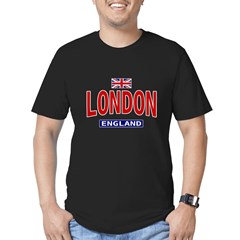 London England Ash Grey Men's Fitted T-Shirt (dark)