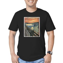 The Scream Men's Fitted T-Shirt (dark)