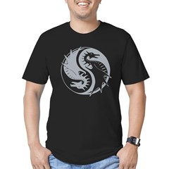 yinyangDragon1Black Men's Fitted T-Shirt (dark)