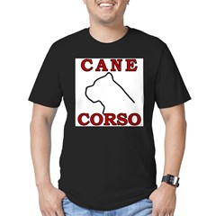 Cane Corso Logo Red Men's Fitted T-Shirt (dark)