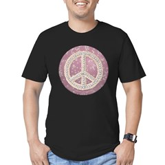 Diamond Peace Sign Men's Fitted T-Shirt (dark)