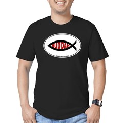 Buddah Fish Men's Fitted T-Shirt (dark)
