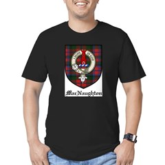 MacNaughton Clan Crest Tartan Men's Fitted T-Shirt (dark)