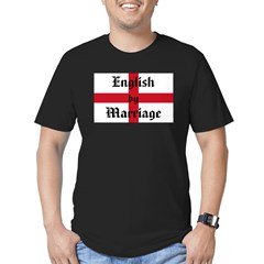 English by Marriage Men's Fitted T-Shirt (dark)