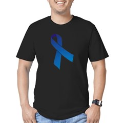 Blue Ribbon Men's Fitted T-Shirt (dark)