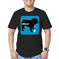 iWoof Bulldog Men's Fitted T-Shirt (dark)
