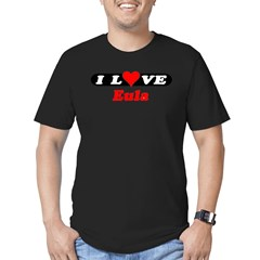 I Love Eula Men's Fitted T-Shirt (dark)