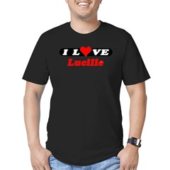 I Love Lucille Men's Fitted T-Shirt (dark)