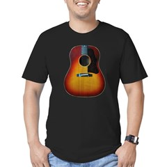 Gibson J-45 guitar Men's Fitted T-Shirt (dark)