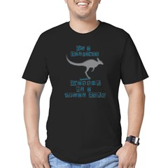 I'm a Kangaroo Men's Fitted T-Shirt (dark)