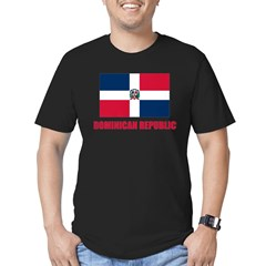 Dominican Republic Flag Men's Fitted T-Shirt (dark)