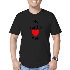 My auntie loves me Men's Fitted T-Shirt (dark)