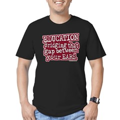 Education, Bridging That GAP Men's Fitted T-Shirt (dark)