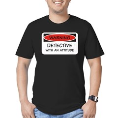 Attitude Detective Men's Fitted T-Shirt (dark)