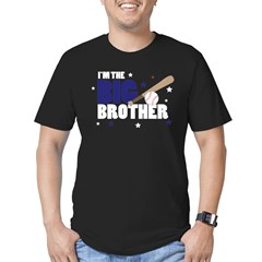 ADULT SIZES - big brother baseball Men's Fitted T-Shirt (dark)