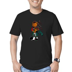 Jimmie the Scottish Piper Bear Men's Fitted T-Shirt (dark)
