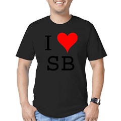 I Love SB Men's Fitted T-Shirt (dark)