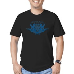 TRIBAL SCOTTISH Men's Fitted T-Shirt (dark)