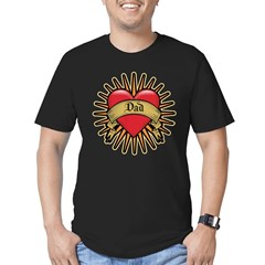 Father's Day Red Heart Dad Tattoo Men's Fitted T-Shirt (dark)