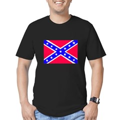 Rebel Flag Men's Fitted T-Shirt (dark)